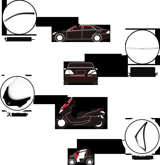 サイドバイザー・バンパーステップガード・スクリーン・ゴルフカート・電気自動車